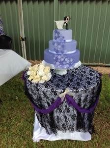 Purple ombré  3 tiers