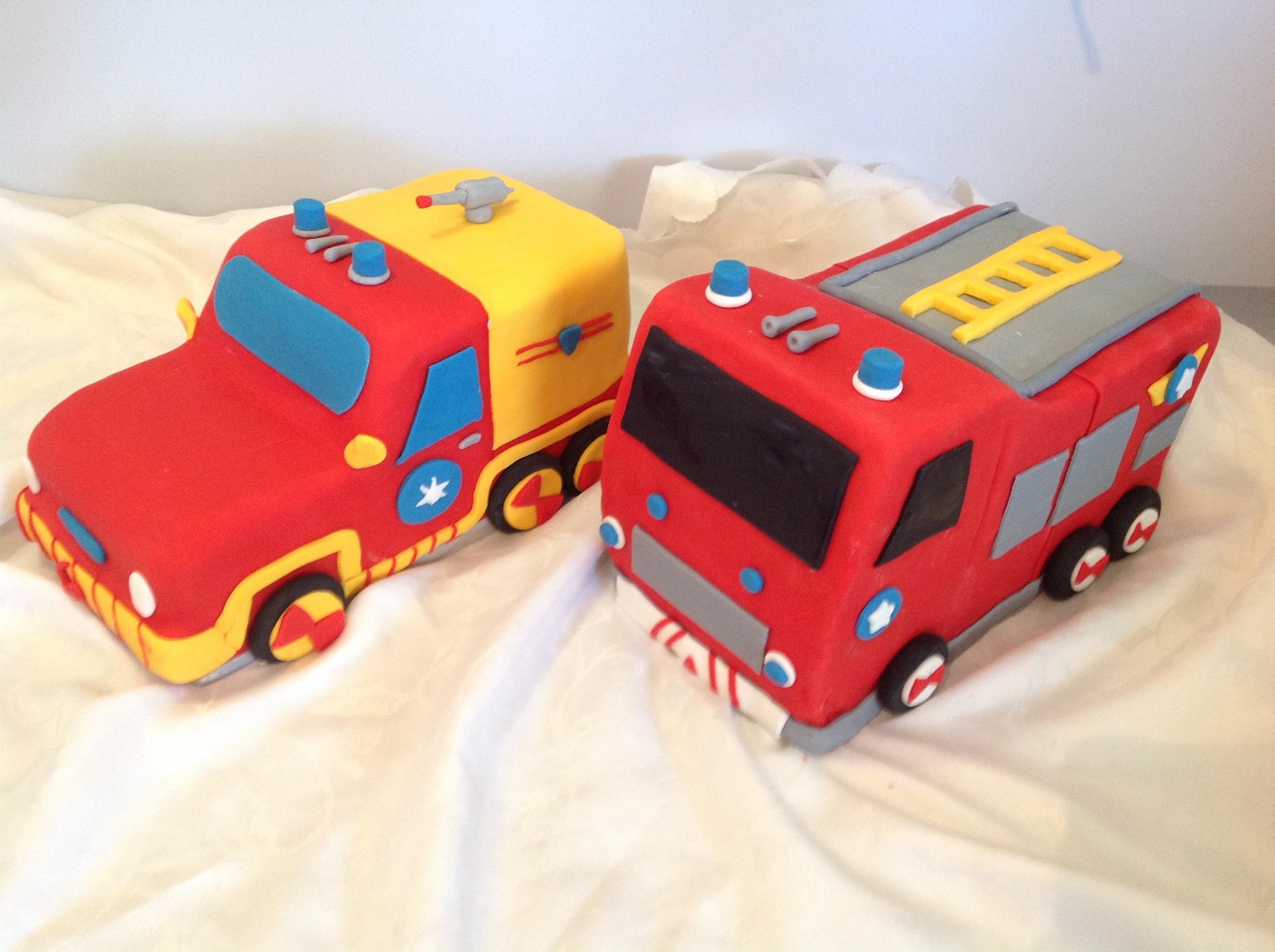 Fireman Sam Vehicles Venus And Jupiter Coastal Cake Design