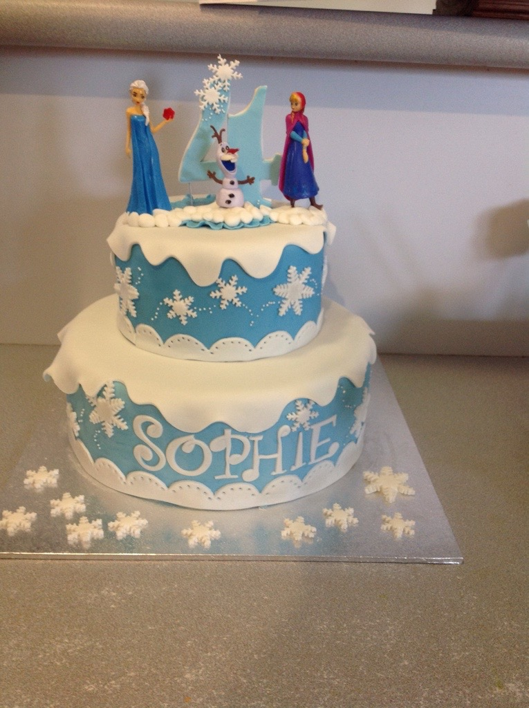 2 Tier Frozen Theme Cake Coastal Cake Design